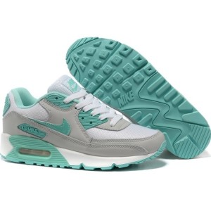Nike Air Max 90 серо-бирюзовые (35-40)