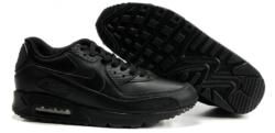 Nike Air Max 90 кожаные черные (35-46)