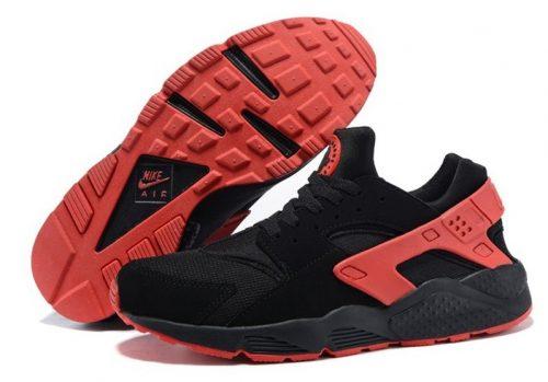Nike Air Huarache черные с красным (40-45)