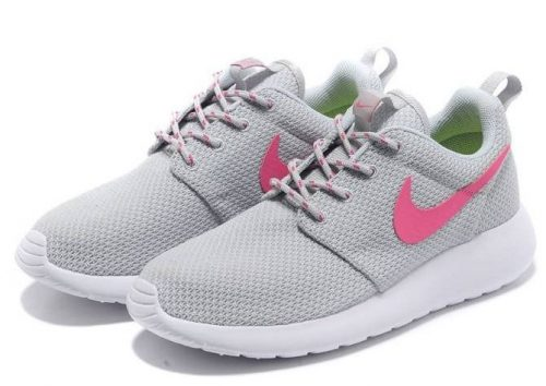 Nike Roshe Run серые с розовым (35-40)