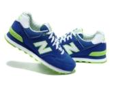 New Balance 574 синие с салатовым (35-41)