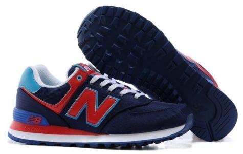 New Balance 574 темно-синие с красным (40-45)