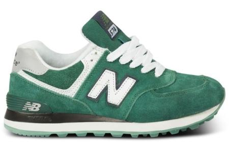 New Balance 574 зеленые с белым (40-44)