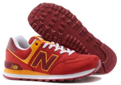 New Balance 574 красные с желтым (35-45)