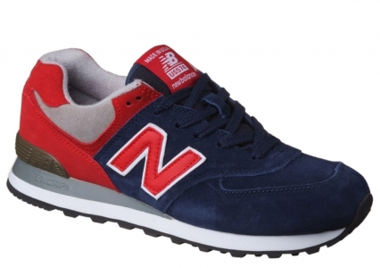 New Balance 574 замшевые темно-синие с красным (35-45)
