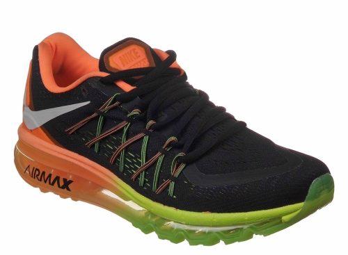 Nike Air Max 2015 черные с оранжевым (39-44)