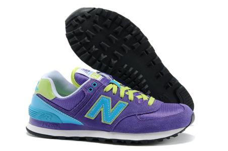New Balance 574 фиолетовые с голубым (35-40)