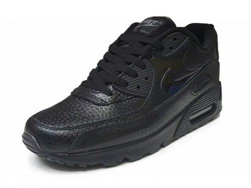 Nike Air Max 90 Premium черные (35-45)