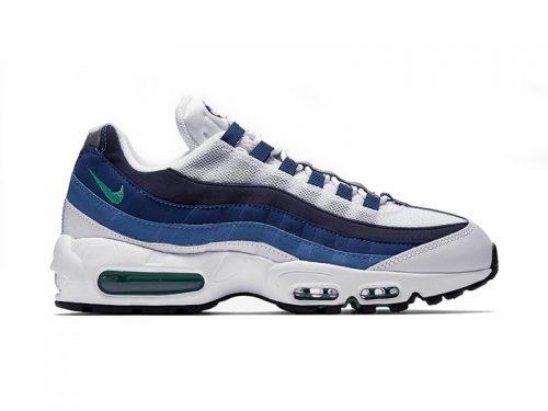Nike Air Max 95 белые с синим (35-40)