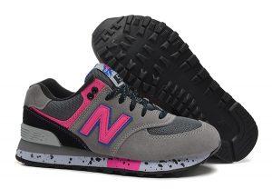 New Balance 574 серые с розовым (35-39)