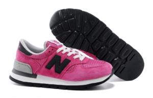 New Balance 990 розовые с черным (35-39)