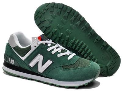 New Balance 574 зеленые с белым (35-40)