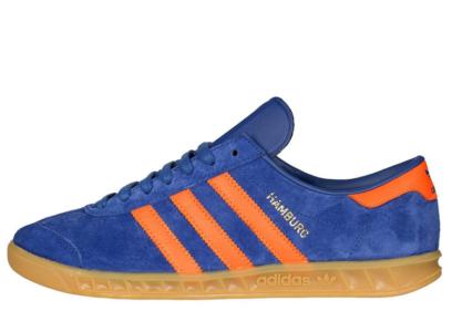 Adidas Hamburg синие с оранжевым (40-45)