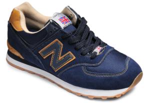 New Balance 574 темно-синие с оранжевым (40-45)