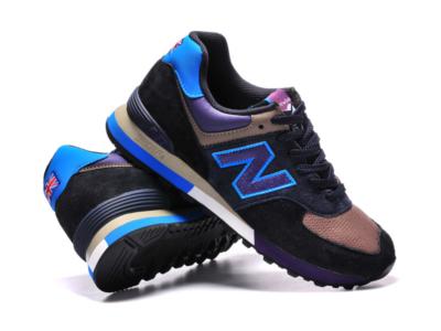 New Balance 576 замша-сетка бежево-черные с фиолетовым (35-40)