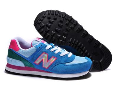 New Balance 574 голубые с розовым (35-39)