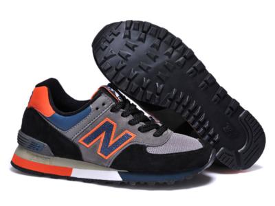 New Balance 576 серо-черные с оранжевым (35-40)