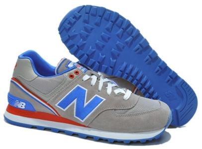 New Balance 574 серые с синим (35-45)