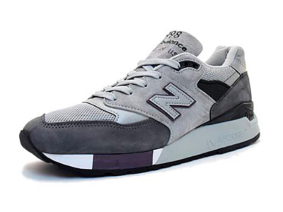 New Balance 998 серые с сиреневым (39-44)