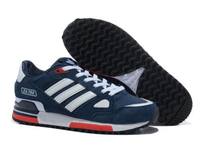 Adidas ZX 750 сине-белые с красным (40-44)