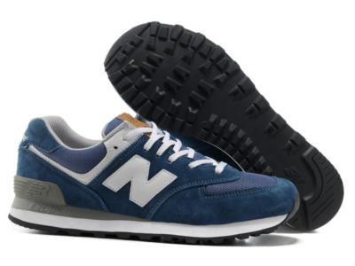 New Balance 574 синие с белым (35-44)
