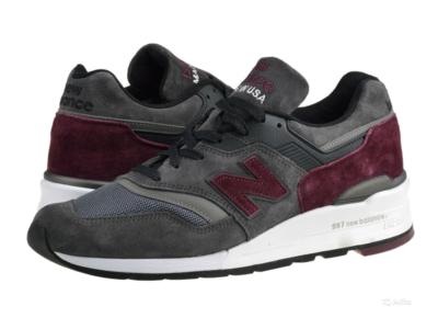 New Balance 997 темно-серые с красным (40-44)