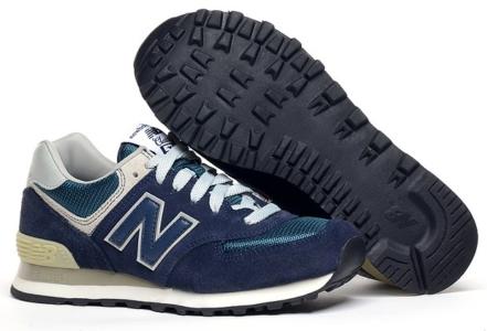 New Balance 574 темно-синие с зеленым (40-46)