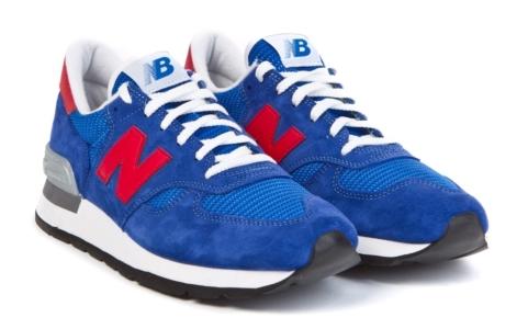 New Balance 990 синие с красным (35-39)