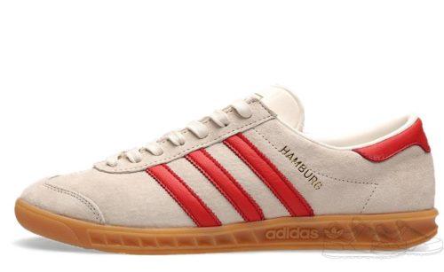 Adidas Hamburg белые с красным (40-44)