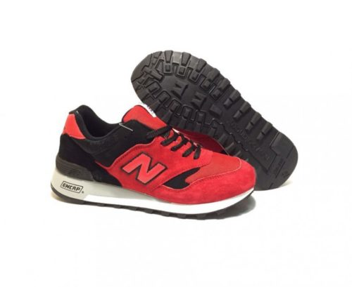 New Balance 577 замша-сетка красно-черные (40-44)