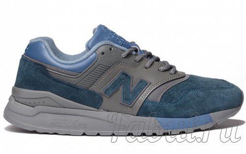 New Balance 997.5 замшевые серые с синим (36-40)