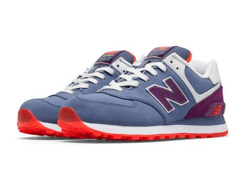 New Balance 574 нубук фиолетово-синие (35-40)
