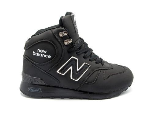 New Balance 1300 нубук с натуральным мехом черные (36-46)