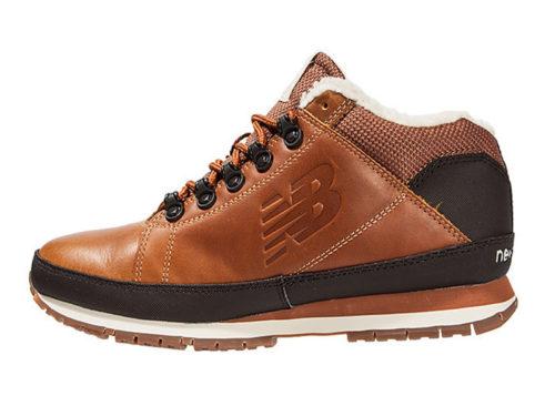 New Balance 754 с мехом кожаные коричневые (40-45)