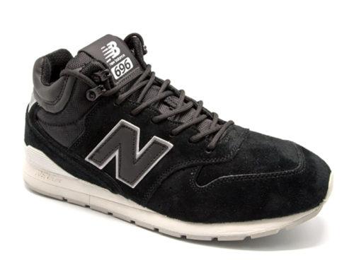 New Balance 696 замшевые черные (40-45)