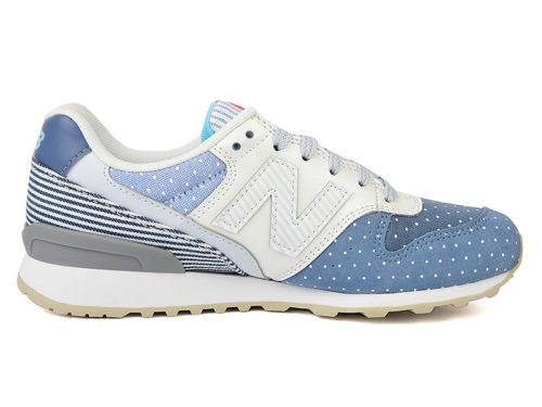 New Balance 996 замша-ткань сине-белые (35-39)