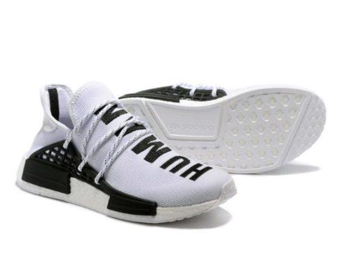 Adidas NMD Human Race белые с черным