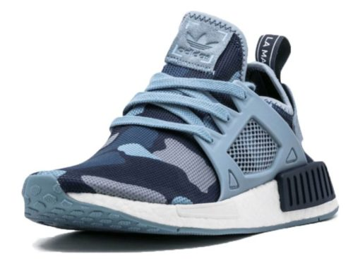 Adidas NMD R1 синий камуфляж