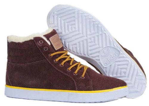 Кроссовки Adidas Ransom коричневые с мехом
