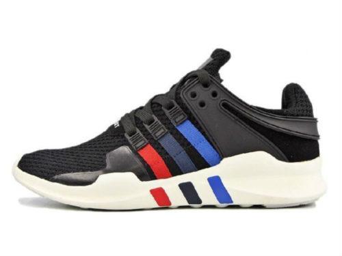 Adidas Equipment Support 93 черные с синим и красным