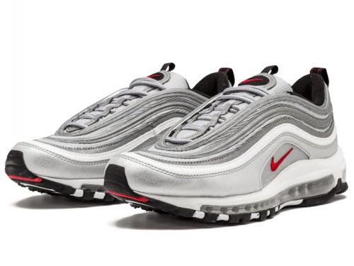 Кроссовки Nike Air Max 97 серебряные silver (40-45)