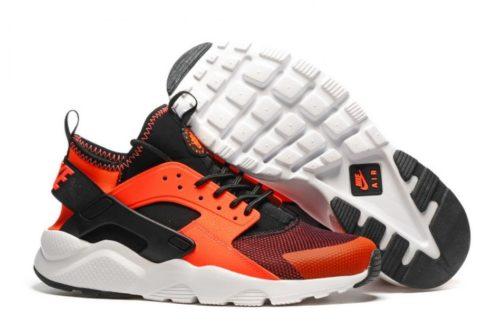 Nike Air Huarache Ultra чёрные с оранжевым (35-44)