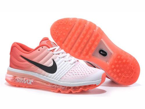 Nike Air Max 2017 белые с оранжевым (36-39)