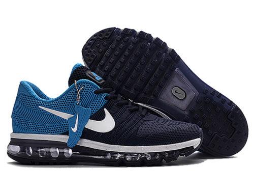 Nike Air Max 2017 темно-синие с голубым (40-44)