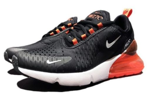Nike Air Max 270 черно-белые с оранжевым (40-44)