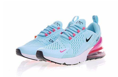 Nike Air Max 270 голубые с розовым (40-44)
