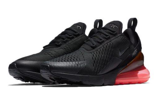 Nike Air Max 270 черные с красным (40-44)
