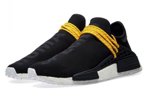 Adidas NMD Human Race черные с желтым (40-44)
