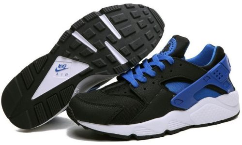 Nike Air Huarache Black-Blue черные с синим (35-44)