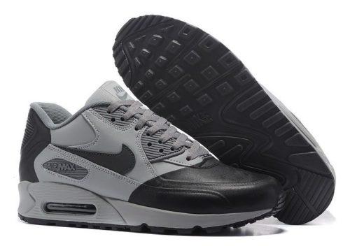 Nike Air Max 90 Premium серые с черным (40-45)